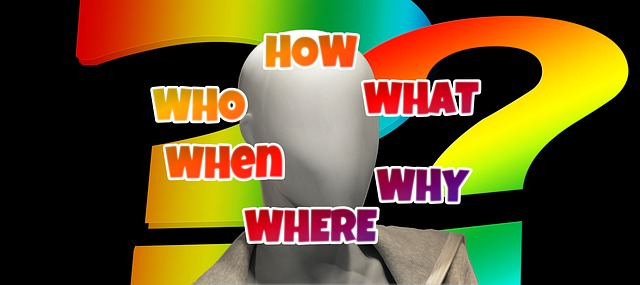 otazníky, otázky, bílá tvář