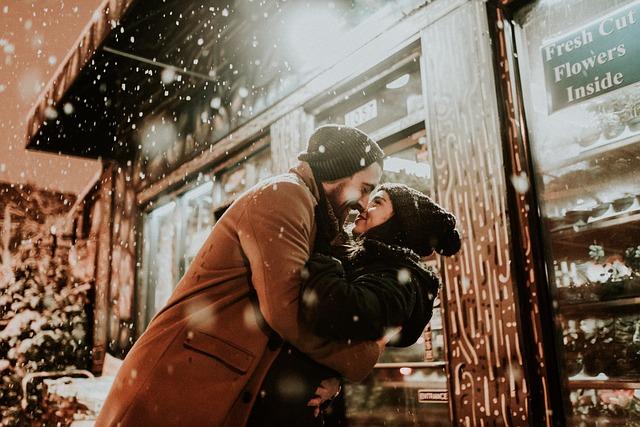 polibek ženy a muže